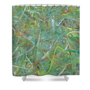 Squiggles  Shower Curtain