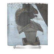 Squirrel Chilling Out Shower Curtain