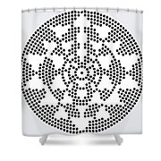 Sri Dots Shower Curtain by Robert Thalmeier