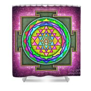 Sri Yantra - Artwork 7.5 Shower Curtain