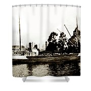 Steam Schooner Helene At San Padero Shower Curtain