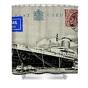 Ss United States - Post Card Shower Curtain