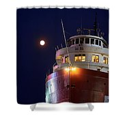 Ss William A Irvin At Night Shower Curtain