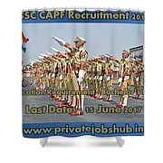 Ssc Capf Recruitment Shower Curtain