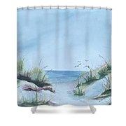 Ssi Beach Shower Curtain