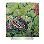 Summer Pond At Lunchtime Shower Curtain
