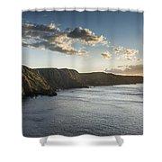 St Abbs Sunset Shower Curtain