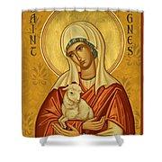 St. Agnes - Jcagn Shower Curtain