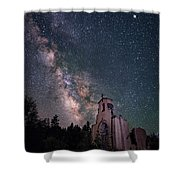St. Aloysius Church Ruin Under The Stars Shower Curtain
