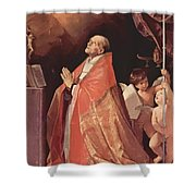 St Andrew Corsini In Prayer 1635 Shower Curtain