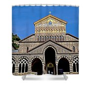 St Andrews Cathedral In Amalfi Shower Curtain