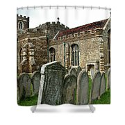 Church Of All Saints, Houghton Conquest, Uk Shower Curtain