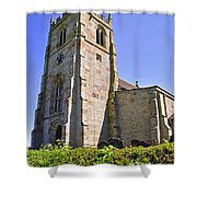 St Andrew's Church At Cubley In Derbyshire Shower Curtain