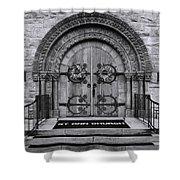 St Ann Church - Bw Shower Curtain