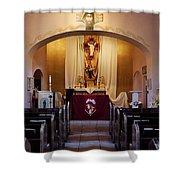 St. Ann's Church Of Tubac Arizona Shower Curtain
