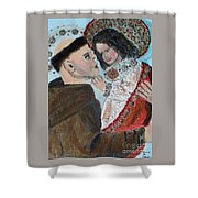 St. Anthony In Amazement Shower Curtain