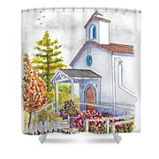 St. Anthony's Catholic Church, Mendocino, California Shower Curtain