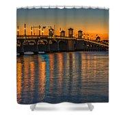 St Augustine Bridge Of Lions Sunset Dsc00433_16 Shower Curtain