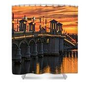 St Augustine Bridge Of Lions Sunset Dsc00565_16 Shower Curtain
