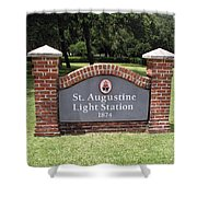 St. Augustine Florida Lighthouse Shower Curtain