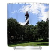 St. Augustine Light In Florida Shower Curtain