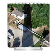St. Augustine Lighthouse Shadow Shower Curtain