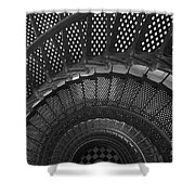 St. Augustine Lighthouse Spiral Staircase I Shower Curtain