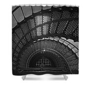 St. Augustine Lighthouse Spiral Staircase II Shower Curtain