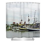 St Augustine Marina From The Water Shower Curtain