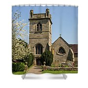 St Bartholomew's Church - Moreton Corbet Shower Curtain