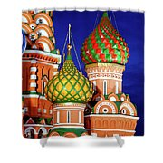 St Basils Cathedral In Moscow Russia Shower Curtain