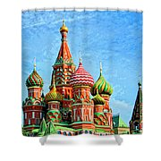 St. Basil's Cathedral Moscow Shower Curtain