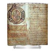 St. Bede, Manuscript Shower Curtain