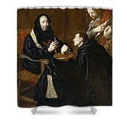 St Benedict Blesses The Bread Shower Curtain