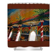 St Benedicts Painted Church 11 Shower Curtain