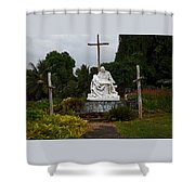 St Benedicts Painted Church 3 Shower Curtain