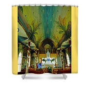 St Benedicts Painted Church 6 Shower Curtain