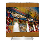 St Benedicts Painted Church 8 Shower Curtain