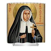 St. Bernadette Of Lourdes - Jcbsl Shower Curtain