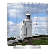 St. Catherine's Lighthouse On The Isle Of Wight Shower Curtain