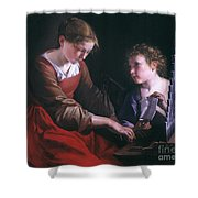 St. Cecilia And An Angel Shower Curtain by Granger