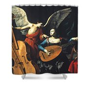 St. Cecilia And The Angel Shower Curtain