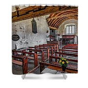 St Celynnin Church  Interior Shower Curtain
