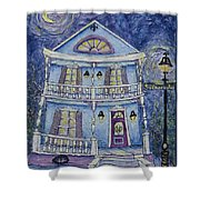 St. Charles Blue House Shower Curtain