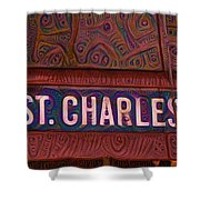 St Charles Line Shower Curtain