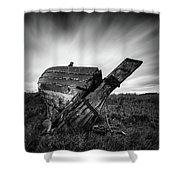 St Cyrus Wreck Shower Curtain