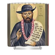 St. Damien The Leper - Rldtl Shower Curtain