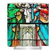 St. Edmond's Church Stained Glass Window - Rehoboth Beach Delaware Shower Curtain