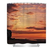St Edmunds Point, Norfolk, England  Shower Curtain
