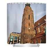 St. Elizabeth's Church Tower In Wroclaw Shower Curtain